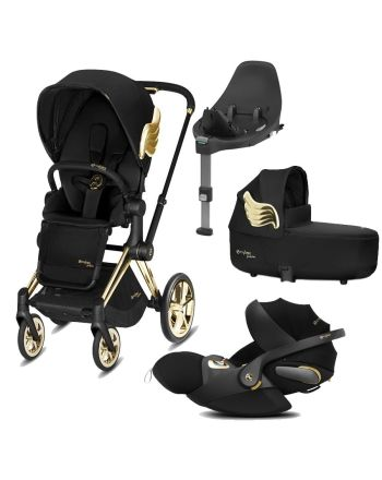 Gullpakke, Cybex, Wings by Jeremy Scott - Komplett vogn + babystol m/base