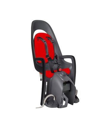 Sykkelsete, Hamax, Caress - inkl adapter, Grey/Red/Black