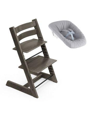 Nyfødtpakke, Stokke Tripp Trapp, Hazy Grey + Newborn Set