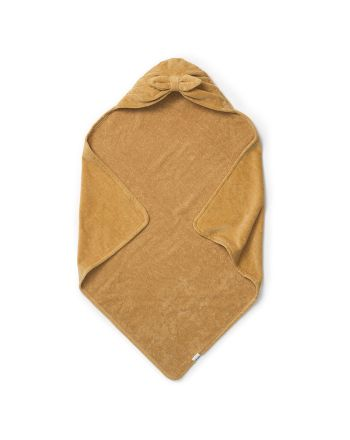 Elodie, Hooded Towel, Gold Bow