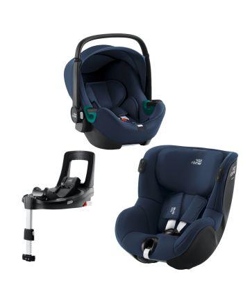 Premium Bilstolpakke, Britax, BabySafe iSense + Dualfix iSense + iSense Base, Indigo Blue