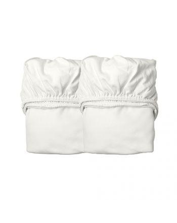 Leander, Laken til vugge - Organic, 2 Pk - Snow