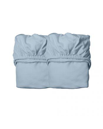 Leander, Laken til babyseng - Organic, 2 Pk - Dusty Blue