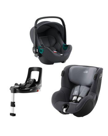 Premium Bilstolpakke, Britax, BabySafe iSense + Dualfix iSense + iSense Base, Midnight Grey