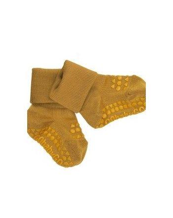 Antiskli Sokker Bambus, GoBabyGo - Mustard