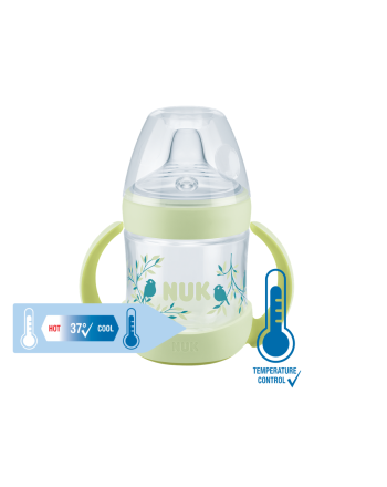 Flaske, NUK, Nature Sense, Grønn, 150 ml,  6-18 mnd