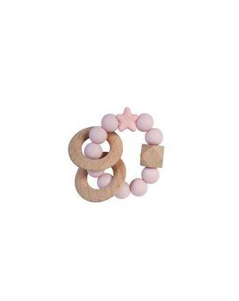 Rangle, Nibbling, Natural wood, Baby pink