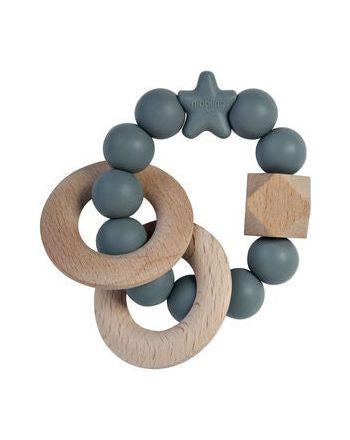 Rangle, Nibbling, Natural wood, Grey