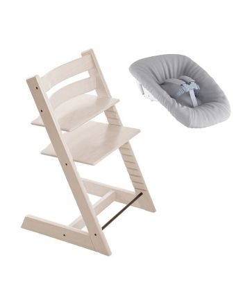 Nyfødtpakke, Stokke Tripp Trapp, Whitewash + Newborn Set