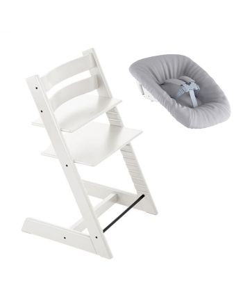 Nyfødtpakke, Stokke Tripp Trapp, Hvit + Newborn Set
