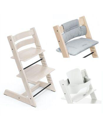 Pakke, Stokke Tripp Trapp, Ink Baby Set + Stolpute, Nordic Grey