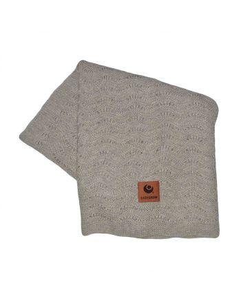 Easygrow Grandma Wave Blanket, Grey Melange