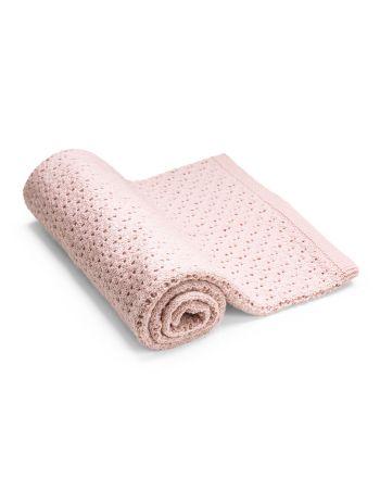 Stokke® pledd i merinoull, pink