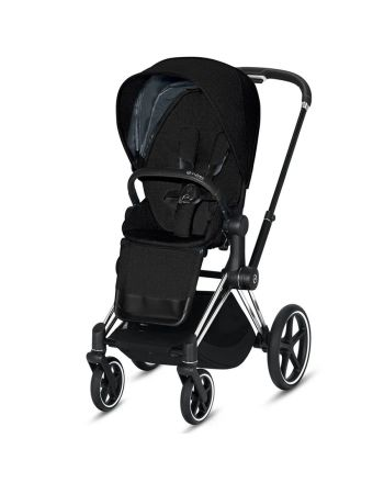 Barnevogn, Cybex, Priam, Chrome Black m/ Sittedel, Deep Black