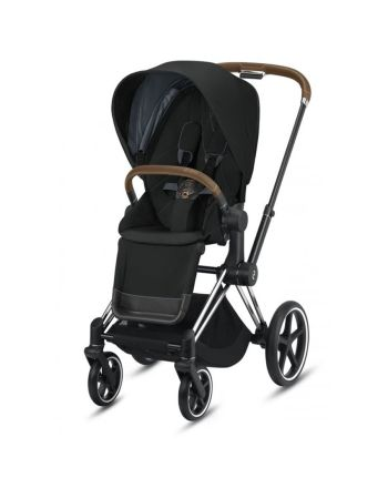 Barnevogn, Cybex, Priam, Chrome Brown m/ Sittedel, Deep Black