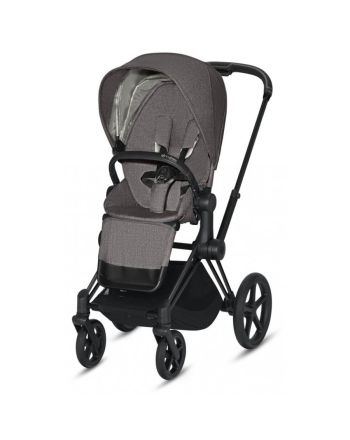 Barnevogn, Cybex, Priam, Matt Black m/ Sittedel, Soho Grey