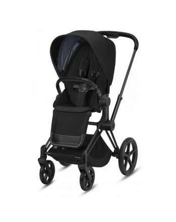 Barnevogn, Cybex, Priam, Matt Black m/ Sittedel, Deep Black
