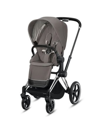 Barnevogn, Cybex, Priam, Chrome Black m/ Sittedel, Soho Grey