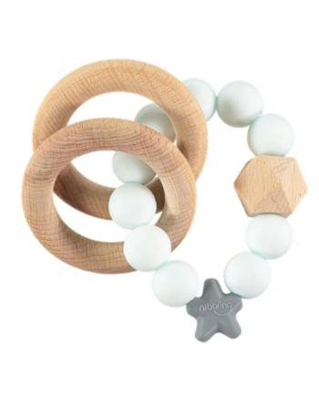 Rangle, Nibbling, Natural Wood, Aqua Marble