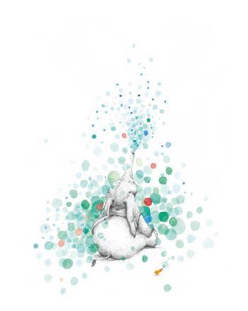 Tails poster Elefanten og boblene, 21x30 cm