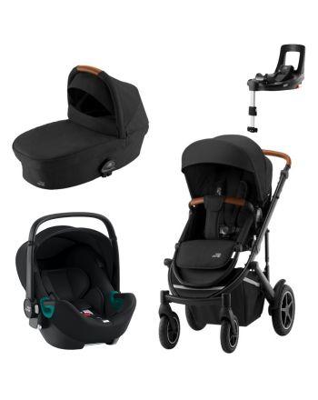 Premiumpakke, Britax Smile III + Bagdel + Britax iSense Bilstolsystem - Space Black