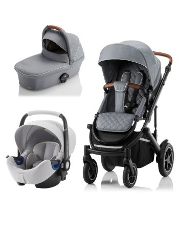 Premiumpakke, Britax Smile III, Nordic Grey Ink. Bagdel + Bilstol Babysafe2, Nordic Grey ink. Base - LIMITED EDITION!