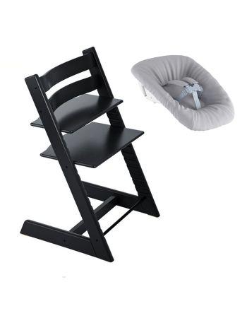 Nyfødtpakke, Stokke Tripp Trapp, Sort + Newborn Set