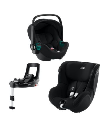 Premium Bilstolpakke, Britax, BabySafe iSense + Dualfix iSense + iSense Base, Space Black
