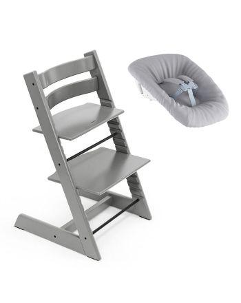 Nyfødtpakke, Stokke Tripp Trapp, Storm Grey + Newborn Set