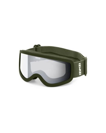 Ski/Snowboardbriller, Izipizi, Khaki Green, 4-10 år