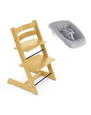 Nyfødtpakke, Stokke Tripp Trapp, Sunflower Yellow + Newborn Set