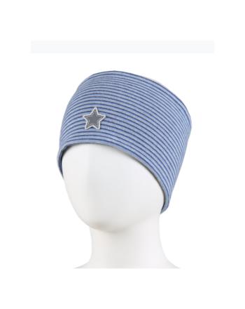 Kivat Pannebånd Striper m/stjerne - Blå/Grå