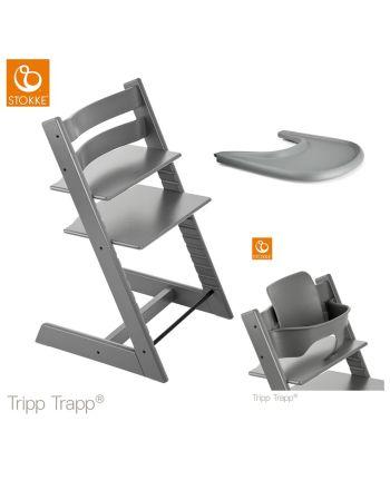 Pakke, Stokke Tripp Trapp, Ink Baby Set + Tray, Storm Grey