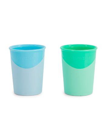 Drikkekopp, Twistshake, Pastell Blå/Grønn, 2pk