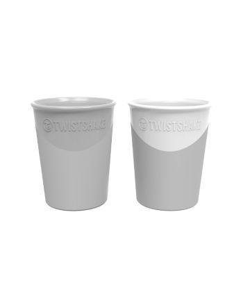 Drikkekopp, Twistshake, Pastell Grå/Hvit, 2pk