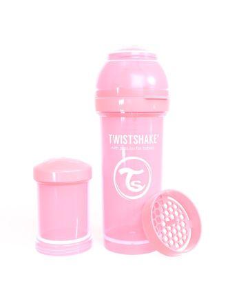 Flaske, Twistshake, Anti-Colic - 260ml, Pastell Rosa
