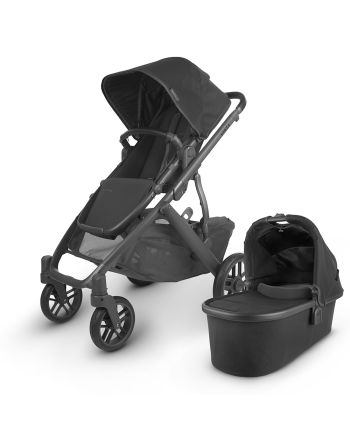 UPPAbaby VISTA V2 -JAKE (black/carbon/black leather)