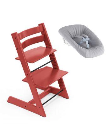 Nyfødtpakke, Stokke Tripp Trapp, Warm Red + Newborn Set