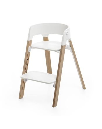Stokke® Steps™, White, Natural Oak